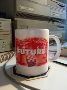The prize: AmigaFuture Coffee Mug